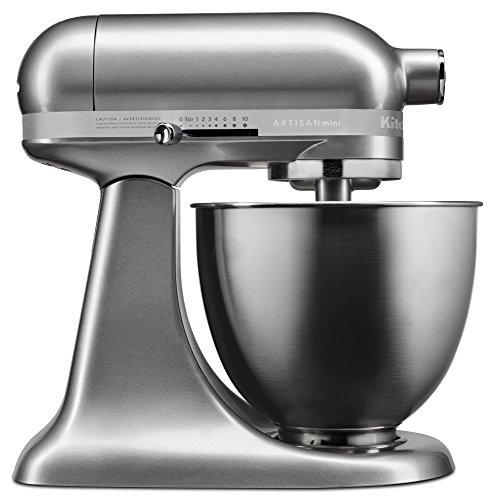 KitchenAid KSM3311XCU Artisan Mini Series Tilt-Head Stand Mixer, 3.5 quart, Contour Silver