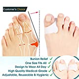 Toe Separators Straighteners Stretchers Spreader Spacers,4 PCS Gel Pedicure Toe Separators for Bunions,Hammer Toe Straightener for Hallux Valgus Overlapping Yoga Toes for Man and Women