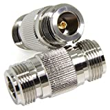 Ancable 2-Pack Premium N-Type Female to N-Female 50 Ohm Barrels Adapter Coupler Joiner for Wilson Cell Booster CB Ham Radio Wireless WiFi Antenna Cable