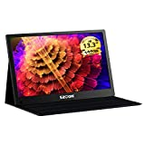 13.3 Inch 2K Portable Gaming Monitor szoon 2560×1440 Computer Display USB C Monitor IPS Screen Type-C and Mini HDMI Input for PS3 PS4 Xbox Raspberry Pi Laptop PC MAC, Include Smart Case