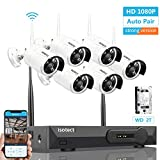 isotect [Newest Strong Version WiFi] Wireless Security Camera System, 8CH Full HD 1080P Video Security System, 6pcs Outdoor/Indoor IP Security Cameras, 65ft Night Vision and Easy Remote View, 2TB HDD