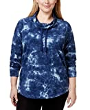 Product review for Style & Co. Sport Plus Size Funnel-Neck Tie-Dye Top