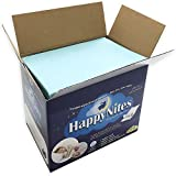Disposable Bed Pads for Incontinence - HappyNites 1500ml High Absorbency Disposable Underpads Bed Mats Liner, 10g SAP Super Waterproof Mattress Pad Protector for Adults , Kids (30Pack w/Sticky Tags)