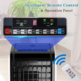 Toolsempire-Portable-Air-Conditioner-Cooler-with-Fan-and-Evaporative-Air-Humidifier-Timing-FunctionRemote-Control-Quiet-AC-Bladeless-Fan-for-Indoor-Air-Flow-2466-CFM