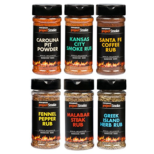 Steven Raichlen Project Smoke BBQ Spice Rub Seasoning Combo Gift Pack - 6 Pack World Wide Barbeque