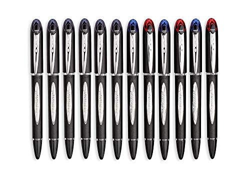 uni-Ball Jetstream Ballpoint Pens, Bold Point (1.0mm), 8 Black + 4 Assorted Colors Pack