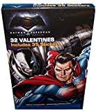 32 DC Comics Batman VS Superman Valentines Day Cards With 35 Stickers