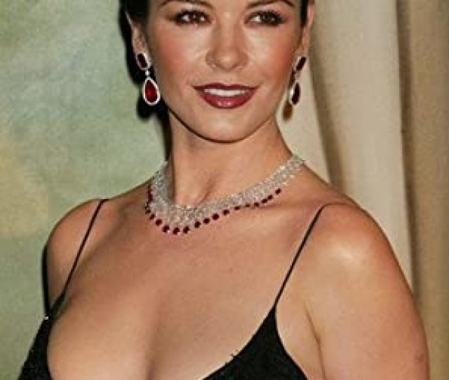 Catherine Zeta Jones Revealing Busty Sexy Black Dress X Poster