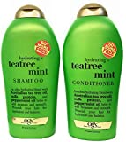 Organix (OGX) Tea Tree Mint Hydrating Shampoo + Conditioner, 19.5 oz Large DUO