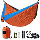 Unimpeded Camping Hammock Multi-Functional Single&Double Portable Hammock with Heavy Duty Straps&Carabiners - Lightweight Nylon Parachute Hammock with Many Accessories for Travel, Backpacking, Camp
