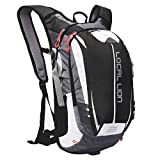 LOCALLION Cycling Backpack Riding Backpack Bike Rucksack Outdoor Sports Daypack for Running Hiking Camping Travelling Ultralight Men Women 18L (Black)
