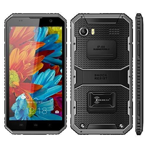 KEN XIN DA Proofing W9, 2GB+16GB, LinPou 4G Smart Phone IP68 Waterproof, Shockproof, Dustproof, 6.0 inch Andriod 5.1 MTK6753 Octa Core, FM, Dual SIM (Grey)