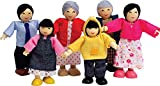 Hape Asian Wooden Doll House Family Set