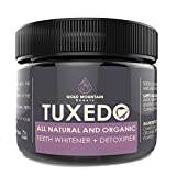 All Natural Charcoal Teeth Whitening, 'Tuxedo' Tooth and Gum Powder. Coconut Activated Charcoal and Bentonite Clay Formula. Use Like A Whitening Toothpaste