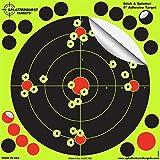 Splatterburst Targets - 8 inch Adhesive Stick & Splatter Reactive Shooting Targets - Gun - Rifle - Pistol - Airsoft - BB Gun - Pellet Gun - Air Rifle (100 Pack)