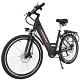 Zaplue 26' City Electric Bike Commuter Ebike with Built-in 36V 10Ah Lithium Battery (Black)
