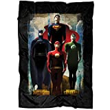 "ARLSTORE Superman and Batman Soft Fleece Throw Blanket, The Flash and Green Lantern Fleece Luxury Blanket (Large Blanket (80""x60""))"