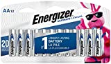 Energizer AA Lithium Batteries, World's Longest Lasting Double A Battery, Ultimate Lithium (12 Battery Count) - Packaging May Vary