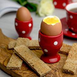 Red Polka Dot Boiled Egg Cup