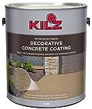KILZ L378601 Interior/Exterior Slip-Resistant Decorative Concrete Paint 1 Gallon Tan