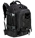 WolfWarriorX Military Tactical Assault Backpack 3-Day Expandable Backpack Extreme Water Resistant Molle Rucksack for The Outdoors, Camping, Hiking & Trekking (Black)