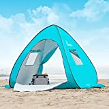 WolfWise UPF 50+ Easy Pop Up 2 Person Beach Tent Sun Shelter Portable...