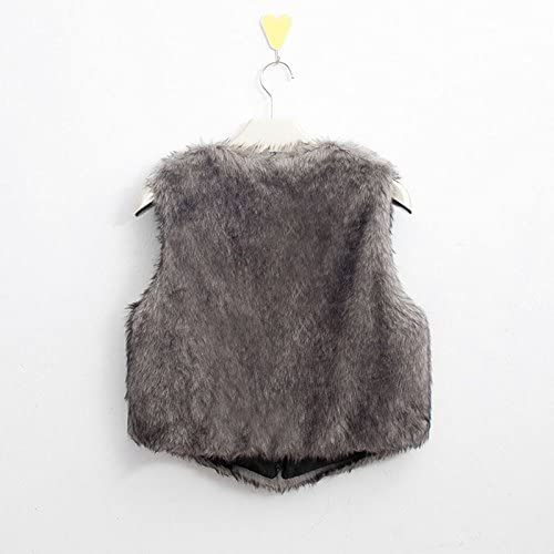 51JWpqNR%2BsL. AC  - MNLOS Chaleco de Piel sintética para Mujer Chaleco sin Mangas Fuzzy Fleece Jacket Abrigo Ligero de otoño cálido #Amazon
