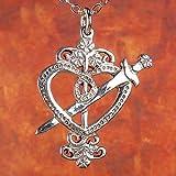 ERZULIE DANTOR VEVE - Solid Cast Voodoo Lwa Vodou Charm Pendant in Sterling Silver