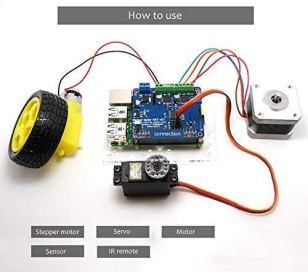 Geekworm-Raspberry-Pi-4B3B3B-Full-Function-Motor-HAT-Robot-Expansion-Board-Support-Raspberry-Pi-4-Molde-B-3B3B2BB-StepperMotorServoIR-Remote