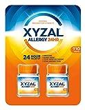 Xyzal Allergy 24HR 2 Bottles Of 55 Tablets Each (110 Tablets Total)