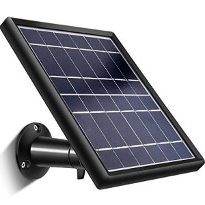 Solar Panel for Ring Stick up Cam, Keeping Stick up Cam Battery Continuously Charged with 5 m/ 16.4 ft Power Cable, 5 V/ 3.5 W (Max) Output, Waterproof Design
