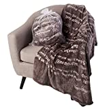 BlankieGram Healing Thoughts Blanket The Ultimate Healing Gift (Grey)