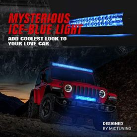MICTUNING-Magical-M1s-52-Inch-312w-Aerodynamic-LED-Light-Bar-Upgraded-21660lm-with-IceBlue-Accent-Light-Exclusive-Curved-Lens-Wind-Diffuser-and-Wiring-Harness