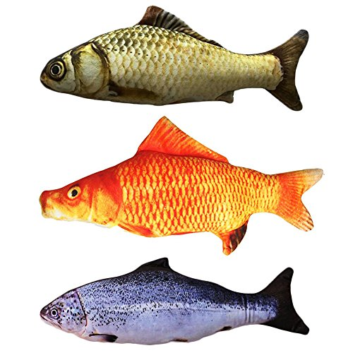Malier-3-Pack-Catnip-Toys-for-Cats-Fish-Catnip-Toys-Cat-Toys-Simulation-Plush-Fish-Shape-Toy-Doll-Interactive-Pets-Pillow-Chew-Bite-Kick-Supplies-for-Cat-Kitten-Kitty