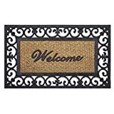 Achim Home Furnishings WRM1830FL6 Fleur De Lis Wrought Iron Rubber Door Mat, 18 by 30'
