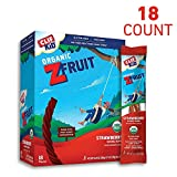 CLIF KID ZFRUIT - Organic Fruit Rope - Strawberry Flavor - (0.7 Ounce Rope, Lunch Box Snacks, 18 Count)