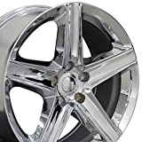OE Wheels 20 Inch Fits Chrysler Pacifica Dodge Durango Journey Jeep Commander Grand Cherokee Grand Cherokee Style JP06 Chrome 20x9 Rim Hollander 9082