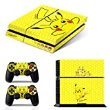 Ci-Yu-Online VINYL SKIN [PS4] Pokemon #3 Pikachu Yellow Whole Body VINYL SKIN STICKER DECAL COVER for PS4 Playstation 4 System Console and Controllers
