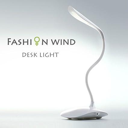 Lampada Led Touch Da Tavolo E Scrivania Flessibile Senza Fili Per Notebook Pc E Altri Usi Ricaricabile