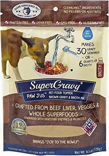PAWjus SuperGravy - Natural Dog Food Gravy Topper - Hydration Broth Food Mix -...