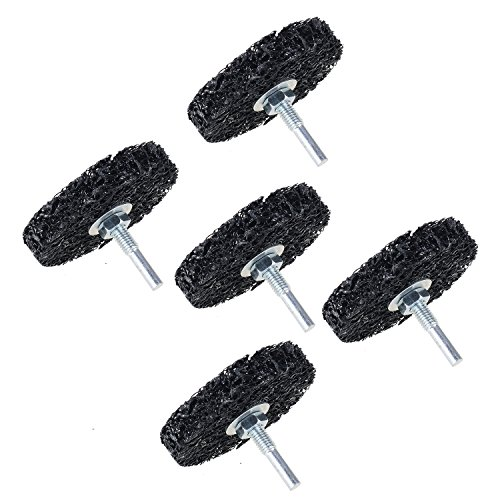 5-Pack 3'' inch Poly Strip Wheel Surface Conditioning Rust Paint Remove Clean Angle Grinder Disc Wheel with 6mm Shank