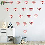 Superhero Diamond Logo Wall Decal Removable Kids Nursery Decor Wall Sticker Superman Boys Bedroom Vinyl Adesivo Wallpaper NY-388