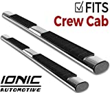 Ionic Voyager Plus Stainless Running Boards 2015-2018 Dodge Ram Crew Cab