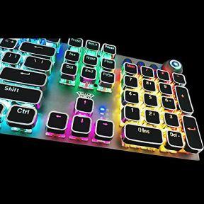 Gaming-Mechanical-Keyboard-Metal-Panel104-Anti-ghosting-KeysBrown-SwitchesLed-BacklitUSB-Wired-Wrist-RestGood-for-Game-and-Officefor-Computer-PC-Desktop-Laptop2088-Black