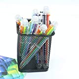 Pack of 8 Lovelty 6 Color Multicolor Ballpoint Pen Office School Supplies Students Children Gift,Assorted Colors