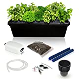 SavvyGrow DWC Hydroponics Growing System Kit - 2 Large Airstone, 14 Plant Sites (holes) Bucket w/Air Pump - Best Indoor Herb Garden for Cilantro, Mint - Complete Hydroponic Setup Grow Fast at Home by