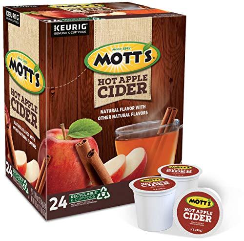 Keurig Mott's Hot Apple Cider, Keurig Single-Serve K-Cup Pods, Flavored K Cups, 24 Count