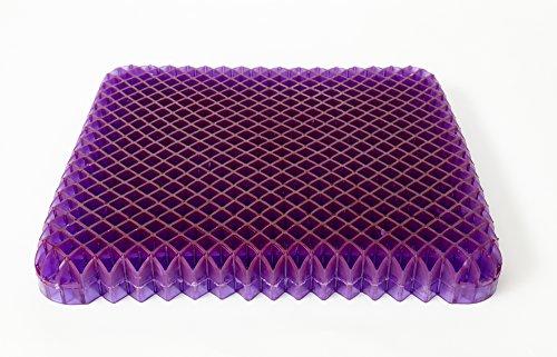 on purple seat cushion