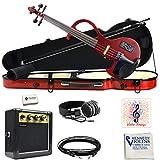 Bunnel SHREDDER Electric Violin Outfit (Rockstar Red)