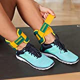 Nayoya 3 Pound Adjustable Ankle Weights Set with Carry Pouch
